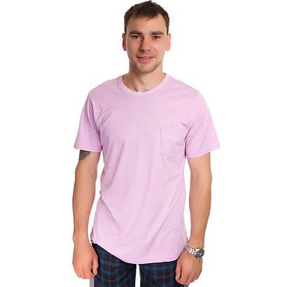 Футболка мужская светло-фиолетовая пика
