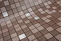 Обои на стену, виниловые, мозаика, на кухню, коридор, коричневые, 1033-17, супер мойка, 0,53*10м