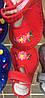 Детские тапочки оптом 13-17,5 цветочки красные