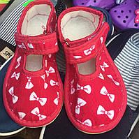 Детские тапочки оптом 13-17,5 бантик, фото 1