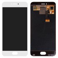 Дисплей для мобильного телефона Meizu Pro 6, белый, с сенсорным экраном, original (PRC)