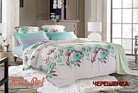 Полуторный набор постельного белья 150*220 из Сатина №015AB KRISPOL™