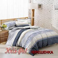 Полуторный набор постельного белья 150*220 из Сатина №032 KRISPOL™