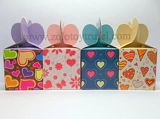 """Набор подарочных коробок """"Разноцветные сердца"""""""