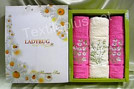 Комплект полотенец Merpatti Ladybug 100% хлопок махра - 1баня + 2для лица