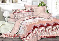 Полуторный набор постельного белья 150*220 из Сатина №1054AB KRISPOL™