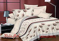 Полуторный набор постельного белья 150*220 из Сатина №1366 KRISPOL™