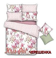 Полуторный набор постельного белья 150*220 из Сатина №92016 KRISPOL™