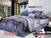 Полуторный набор постельного белья 150*220 из Сатина №112955 KRISPOL™