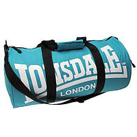 Спортивная сумка lonsdale london, сумка лондон голубая/черные ручки