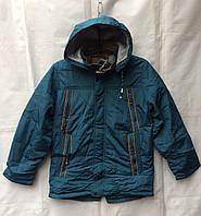 Куртка демисезонная подростковая для мальчика 10-15 лет,морская волна