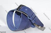 """Ремень мужской Брючный, шпенек синий (кожа, 35 мм.) """"Remen"""" - купить оптом со склада на 7км LM-638"""