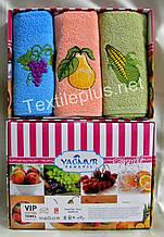 Полотенца махровые кухонные Yagmur  Fruits 3 шт.  30*50 Турция