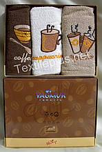 Полотенца махровые кухонные Yagmur Coffee 3 шт. 30*50 Турция