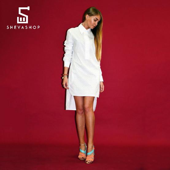 Платье-рубашка Ann Undine белое