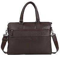 Мужская кожаная сумка для ноутбука коричневая TB 00385