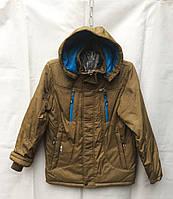 Куртка демисезонная подростковая для мальчиков 10-14 лет,горчичная