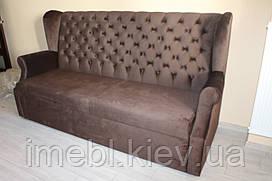 Мягкий диван на кухню с вместительным коробом (Коричневый)