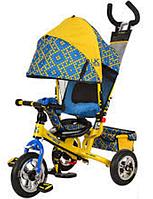 Детский трехколесный велосипед Profi LE-3-02UKR (жовто-блакитний)