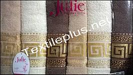 Комплект махровых банных полотенец Julie Турция