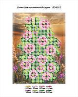 """Схема для частичной вышивки бисером 9х12 см  """"Цветы"""""""