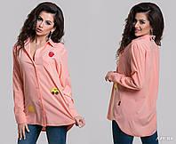 Рубашка с нашивками в расцветках 433 (5238)