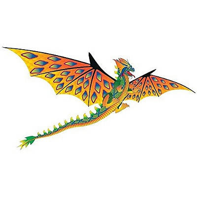 Воздушный змей WindnSun Зеленый дракон 3D 1930 х 1600 мм , фото 2