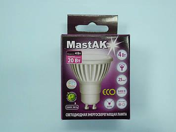 Світлодіодна лампа Mastak CUP02DG ( 4W LED GU10 230V 6400K )