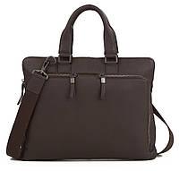 Мужская кожаная сумка-портфель коричневая TB 00400