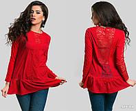 Нарядная блузка с гипюром в расцветках 433 (5241)