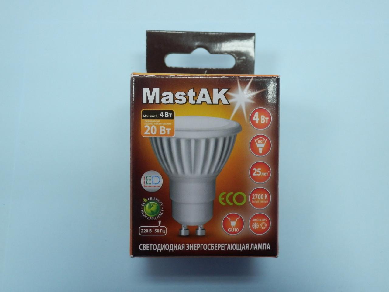 Светодиодная лампа Mastak CUP02WG ( 4W LED  GU10 230V 2700K )