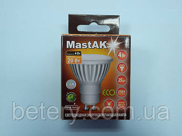 Світлодіодна лампа Mastak CUP02WG ( 4W LED GU10 230V 2700K )