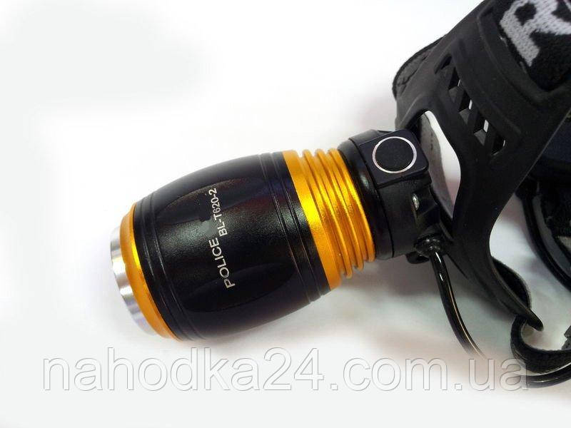 Налобный ультрафиолетовый фонарь Police T620-2