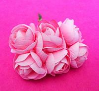 Розочки большие упаковкой 36 шт Розовые