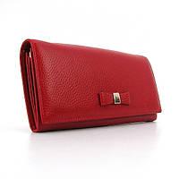 Кошелек кожаный на кнопке женский красный Prensiti 164-2251, фото 1