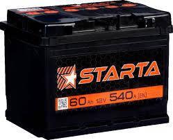 Аккумулятор Старта Starta 60 Ah 12V R плюс справа