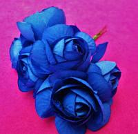 Розочки большие упаковкой 36 шт Синие