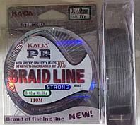 Шнур рыболовный Kaida PE Braid line от 0,10 до 0,4 100 м