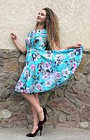 """Платье летнее """"солнце-клёш"""" из штапеля П127"""