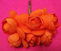 Розочки большие упаковкой 36 шт Оранжевые