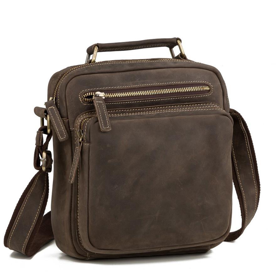8b0d2938b95f Изящная мужская кожаная сумка-барсетка из лошадиной кожи цвета хаки TB  00407 - АксМаркет в