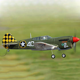 Самолет FMS Mini Curtiss P-40 Warhawk V2 Camo RTF 800 мм 2,4 ГГц