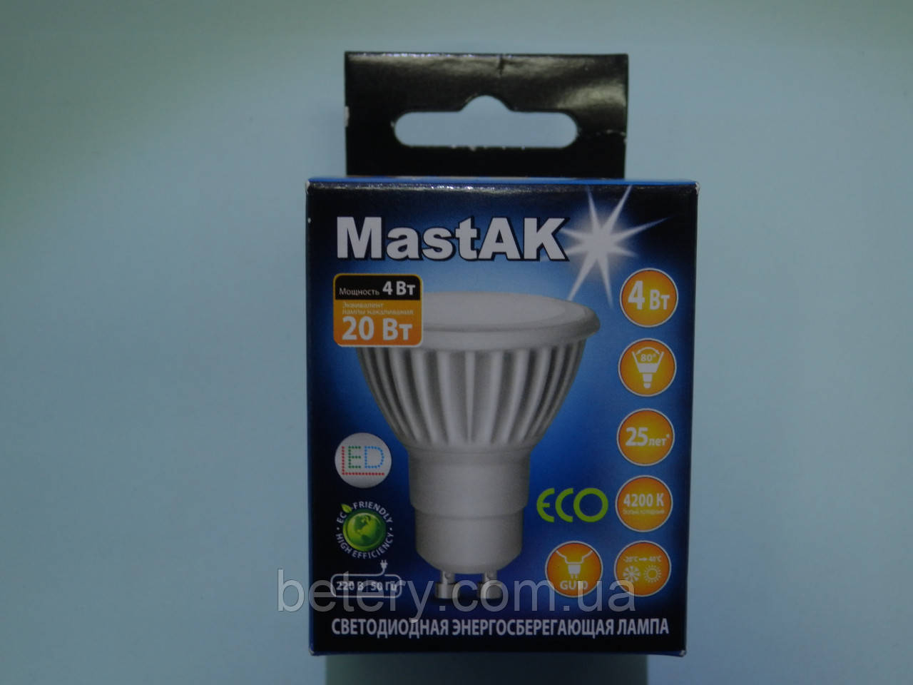Светодиодная лампа Mastak CUP02CG ( 4W LED  GU10 230V 4200K )