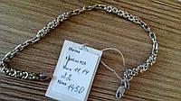 Браслет серебро 925 пробы плетеный крепкий вес 11.14 грамм