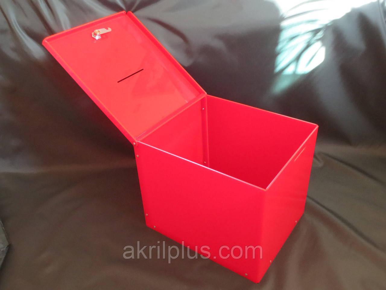 Ящик красный 300*250*250 - АкрилПлюс в Киеве