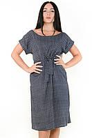 Женское батальное платье с поясом