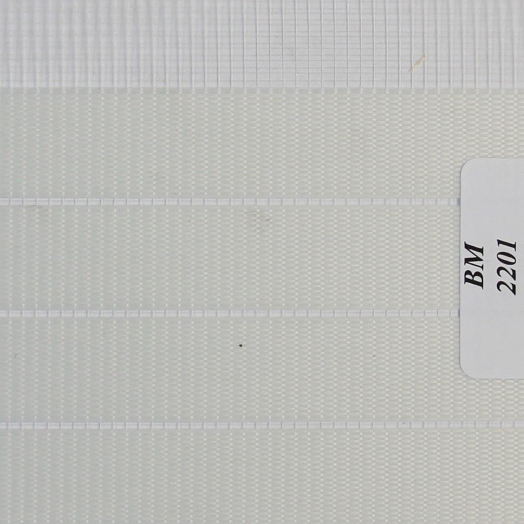 Рулонные шторы День Ночь Ткань Зебра ВМ-2201 Белый