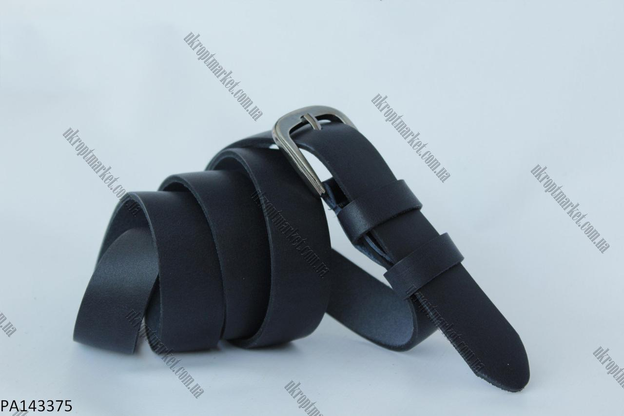 """Ремень женский шпенек черный (кожа, 25 мм.) """"Remen"""" - купить оптом со склада на 7км LM-638"""