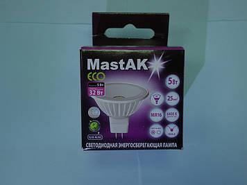 Світлодіодна лампа Mastak MR16E24D ( 5W LED MR16 12V 6400K )