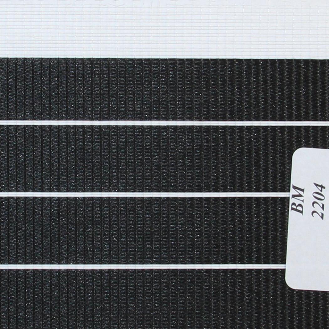Рулонные шторы День Ночь Ткань Зебра ВМ-2204 Чёрный